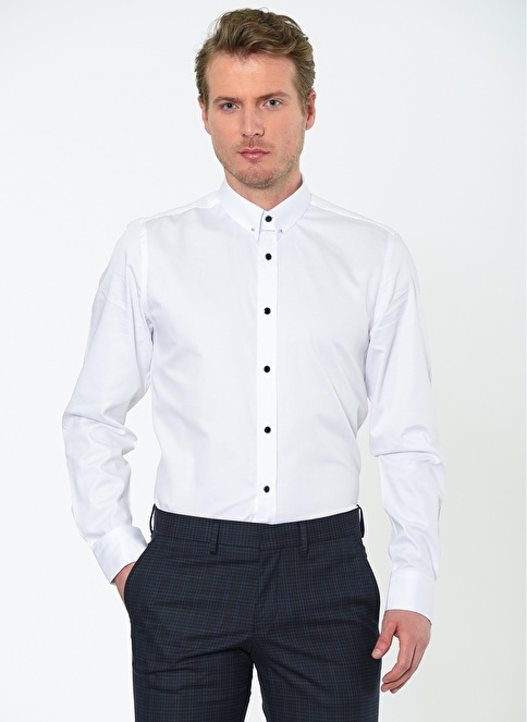 Altınyıldız Classics Klasik Uzun Kollu Gömlek Beyaz